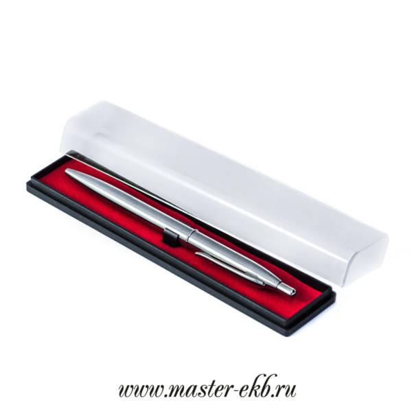 Шариковая ручка автомат серебро