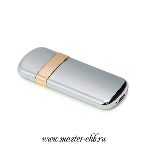 Зажигалка электронная серебро