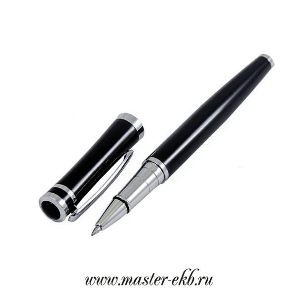Шариковая ручка чёрная под гравировку